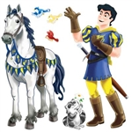 Prince and Trusty Steed Props (2/pkg)