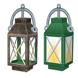 Our 3-D Lantern Centerpiece will make for an excellent table centerpiece for your next western party. Printed to look like an early 1900's oil lantern, the card stock centerpiece measures 11 inches tall after simple assembly.