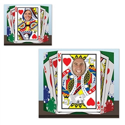 Everyone's a winner and a King of Hearts when they're framed by the Royal Flush Photo Prop.  Perfect for casino themed parties, your guest will have a memory to last a lifetime!