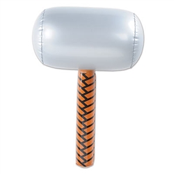 This Inflatable Hammer is the perfect party supply for your construction theme party! This hammer expands to 18 inches when fully inflated and  it's sure to draw rave reviews at the party. Comes one hammer per package.