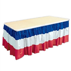 Patriotic Table Skirting