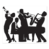 Decorate the wall and set the mood by decorating with this Great 20's Jazz Band Insta-Mural. This complete wall decoration features four instrument-playing silhouettes and the Insta-Mural can be used both indoors and out. Measures 5 feet by 6 feet.