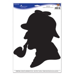 This silhouette Sherlock Peel 'N Place is the perfect wall decoration for a murder mystery party. This large sticker is easy to use, removable and will adhere to most smooth surfaces. Comes one per package.