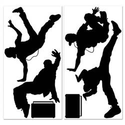 Decorate your house with these Break Dancer Props to help set the scene at your music and dance party! There are six pieces in the package and you will need scissors to cut the pieces from the sheets in the package.