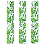 The Jungle Vines Party Panels is made of clear plastic printed with leaves and vines. They measure 12 inches wide and 6 feet long. Contains 3 panels per package.