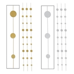 These Glittered Dot Stringers are a perfect addition to just about any themed party. The simple design is truly elegant. Choose from gold and silver and the package you receive will contain six (6) 6-foot long glittered stringers.