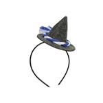The Oktoberfest Peasant Hat Headband is a cute little accessory to add to your Oktoberfest outfit. Attached to a black plastic headband sits a grey fabric peasant hat, adorned with a little blue and white rope accent.  One size fits most. No returns.