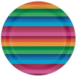 The Fiesta Plates are colorfully printed with traditional vibrant colors. They're made of scalloped paper and measure 7 inches. Contains eight (8) plates per package.