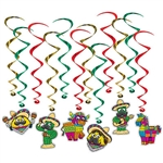 Add fun and excitement to your next Fiesta, Cinco de mayo or South of the Border themed party with our Fiesta Whirls!  Our set includes 12 whirls, six with vibrantly colored cardstock cutouts.