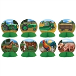 Put a tractor on your table with our Farm Mini Centerpieces!