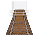 Ride the rails without marring your floor, sidewalk or yard!  This Railroad Track Runner looks so real you'll want to put up flashing red lights and crossing guard.