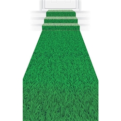 "Our 10' long by 24"" wide Grass Runner adds the finishing touch to your seasonal, sporting, jungle, Easter, or luau themed party."