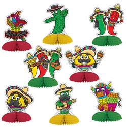 Each of the eight pieces included in the package are sure to make you and your guests smile and add some south of the border fun!
