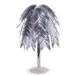 "This 24"" tall Silver Metallic Feather Cascade Centerpiece will give your table a fun, kinetic, shiny and interesting focal point."