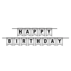 Say Happy Birthday in classic style with this Foil Happy Birthday Streamer!
