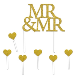 Love is special wherever you find it, celebrate your vows with our Mr & Mr Cake Topper!