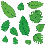 "Planning a Luau, Jungle or even Mermaid themed party?  Add these fun Tropical Leaf Cutouts for color and interest.  Each package contains 12  cutouts printed both sides on high quality cardstock.  Sizes range from 4"" - 12"" long."