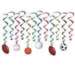 Decorating for a multi-sports themed party or event?  Our Sports Whirls are just what you're looking for!  12 pieces per package, completely assembled and easy to hang.