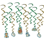 Enjoy the gentle fun of our Woodland Friends Whirls as they twist and turn in the breeze.  These playful, fun whirls are printed both sides on high quality cardstock.  The package includes 12 pieces  - six whirls and six whirls with cutout danglers.