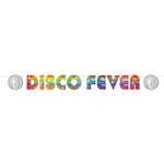 If you're wearing platform shoes, hip huggers,or a white suit and doing the hustle, then you need this 70's Disco Fever Streamer to complete your 70's themed party!   Comes completely assembled, just hang with pins, tape,staples, etc. Reusabe with care.