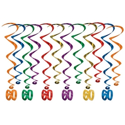 Every decade deserves a celebration, these whirls are sure to help make your 6th decade Instagram ready! <br/> These multi colored 