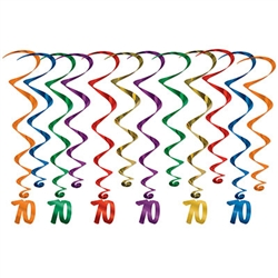 Every decade deserves a celebration, these whirls are sure to help make your 7th decade Instagram ready! <br/> These multi colored 