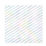 "Setting an iridescent table for your party? These 12.88"" square, 2-ply luncheon napkins with iridescent stripes will add a finishing touch to your decor."