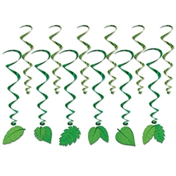 Add color, fun and movement to your Jungle or Luau themed parties with these Tropical Leaves Whirls.  Whether you're defining a space or adding texture to a background, these whirls will look great and twirls in the lightest breeze.