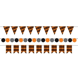 Looking for a stylish and classy accent for your party decorations? This Black and Orange Plaid Mini Streamer Kit may be just what you need.