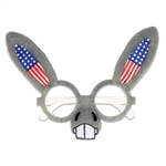 There will be no doubt which side of the aisle you're on with these Patriotic Donkey Glasses! Perfect for rallies, election headquarters, results watch parties and victory celebrations. One size fits most.