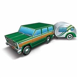 Take a nostalgic trip down memory lane with this 3-D Travel America Road Trip Centerpiece.  Your guests conjure memories packing the family into the car and setting off to see the country, campfires, tourist attractions and good times.