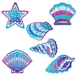 Bring the magic of the ocean and beach to your Under the Sea, Mermaid, or Luau themed party with these Seashell cutouts.  There are 6 cutouts in each package that range in size from 10 to 12.5 inches.  Your sure to be Instagram and Pinterest ready!