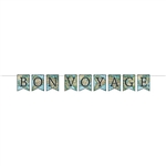 Add this classic Bon Voyage Streamer to your next travel or international themed party's decor.  It comes with 12 feet of cord to make hanging easy.  Your guests will love the vibrant colors and fun illustration.  Letter cards are 4.5 x 6 inches.