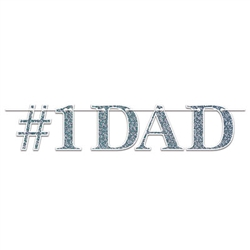 Everyone has a father, but Dads are special.  Celebrate your dad and let him know how much you care with this #1 Dad Streamer.  It will look great as part of your decor on Father's Day or his next birthday celebration!