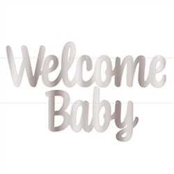 You've welcomed a new life into the world, now let the World know when you welcome your new baby home! This classic Foil Welcome Baby Streamer in Silver is the perfect way to show your joy and pride.