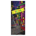 There will be no doubt where the best party on the block is when you hang this Fiesta Door Cover!  This bright, vibrantly colored door cover is all weather, 6 feet tall and 30 inches wide.  Reusable with care.