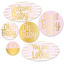 "Here's a great, tasteful and fun way to say ""Welcome Baby"" at your baby shower party!
