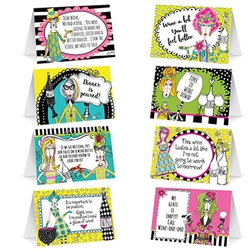 Add more tongue-in-cheek fun to your next party by inviting Dolly Mama!  These fun and colorful table cards are sure to make your guests grin as they take their places.  Each package comes with 8 cards, printed both sides.