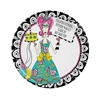 Bet you didn't know Dolly Mama was into fitness . . .Of course it's in her own tongue-in-cheek style.  You 'll be smiling as you set your serving table and so will your guests with these fun colorful plates.    Sold 8 - 9 inch plates per package.