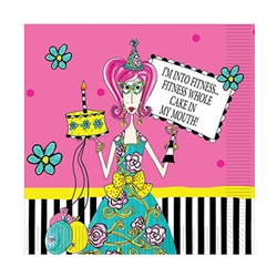 Dolly Mama, nobody put's a smile on your guests face the way she can.  Make sure your guests are smiling throughout the party with these bright, fun Dolly Mama's™ Adult Celebration Lunch Napkin.  16 2-ply napkins per package.
