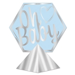 "Here's a fun, unique and stylish centerpiece for your Baby Shower or Welcome home Baby party.  This 3-D Foil ""Oh Baby"" Centerpiece is an eye-catching focal point for your serving or gift table.  Sold one per package and requiring simple assembly."