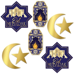 Add these rich, full colored cutouts to your Ramadan celebrations to add interest in a classic style.  each package comes with 8 cutouts ranging in size from 5 to 11.5 inches.  Cutouts are printed both sides on highest quality cardstock.  Hang on a wall o