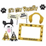 Celebrate your favorite furry friend's birthday in style with this Dog Birthday Party Kit.  Kit includes everything you need to make your special K9 friend's day extra special including streamer, photo props, cone hats and photo frame.