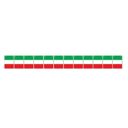 Add classic red, white and green to your Italian themed international party or event with this colorful Italian Flag Streamer.  Each flag card is 4.5 inches wide by 6.25 inches tall.  12 cards per pack as well as 12 feet of cord for hanging.