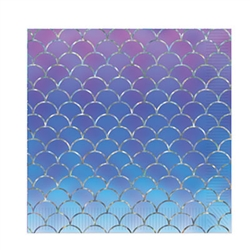 Tip the scales in favor of fun at your next Mermaid or Under The Sea themed party!  These rich, colorful Mermaid Scales Luncheon Napkins will add the finishing touch to your table, especially when pared with our Mermaid Scales Luncheon Plates!