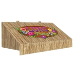 Every luau, tropical. or jungle themed party needs a Tiki Bar. Create your own with this 3-D Tiki Bar Awning Wall Decoration!