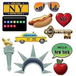The glitz, the glamor, the hot dogs!  Give your gusts memories that will last a lifetime at your next New York City themed party with these New York City Photo Fun Signs.  You'll be Instagram and Pinterest ready with these colorful and fun photo props.