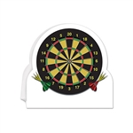 Get straight to the point with this fun and colorful 3-D Dartboard Centerpiece.  A great addition to your sports or British themed party decor.  Sold one per package, the centerpiece stand 8.75 inches tall by 8.5 inches wide.
