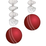 Plan a party with an international flavor - host a Cricket themed celebration!  The Cricket Ball Danglers will add interest, sparkle and shine to your venue.  They're easy to hang with attached string and extend to 30 inches.