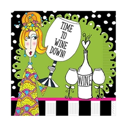 Nobody celebrates wine line Dolly Mama.  There's no doubt what time it with these Dolly Mama's™ Wine Celebration Lunch Napkins!  Each package contains 16 2-ply napkins.  Napkins are 12.88 inches square.